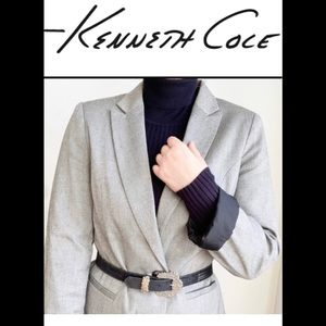Kenneth Cole Select gray button blazer size medium